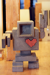 Office photo 1 - TinEye Lovebot sculpture